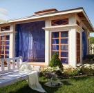 Пурпурный дворец. Беседка с террасой для дикого сада 12